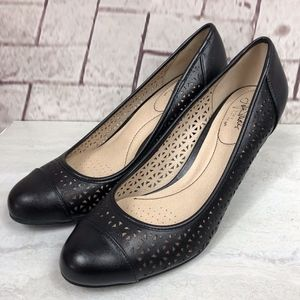 Life Stride Lively Flex Black Pumps Heels Sz. 10